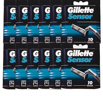 Gillette Sensor Klingen Rasierklingen 120 STÜCK NEU
