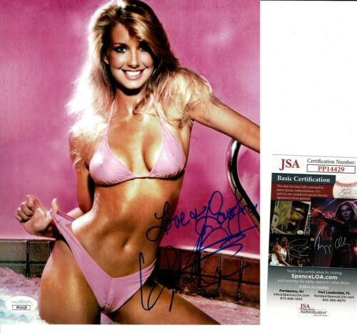 "HEATHER THOMAS SIGNED 8X10 PHOTO #1  ""T.J. HOOKER, FALL GUY, ZAPPED"" JSA COA"