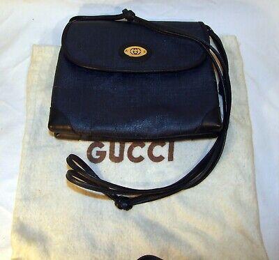 Vintage Gucci Shoulder Cross Body Bag Blue 1950`s 1960`s