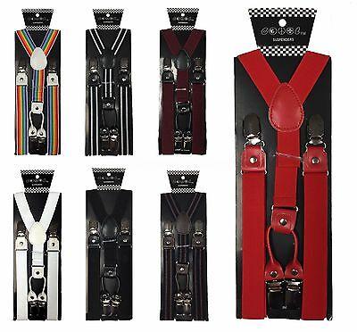New Mens Womens Wedding  Clip-on Suspenders Elastic Y-Shape Adjustable Braces