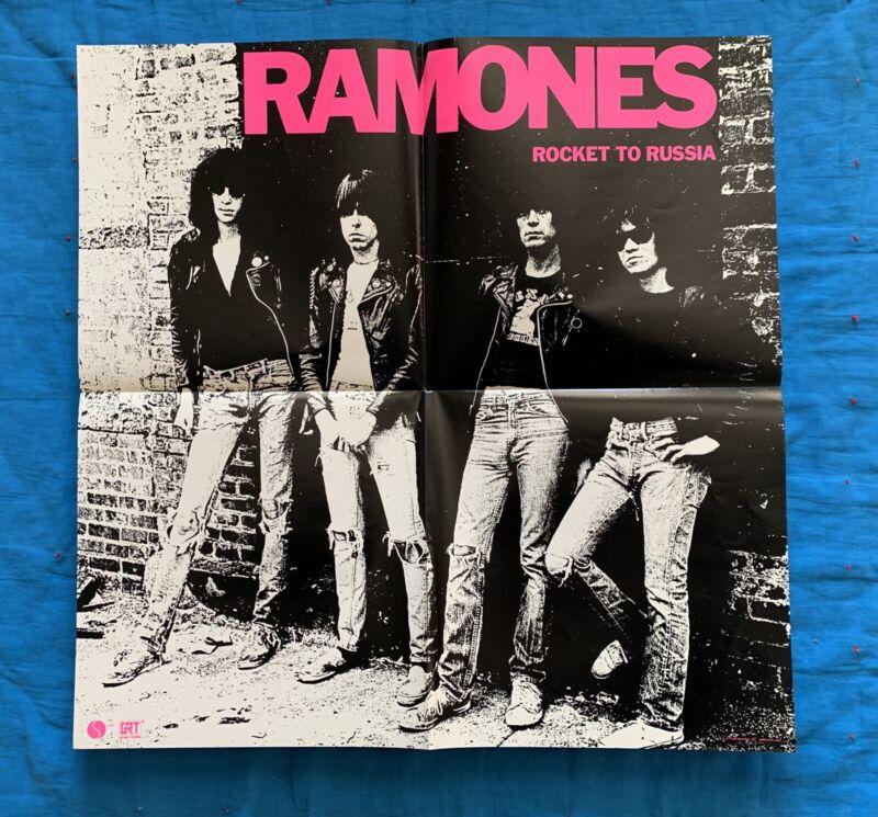1977 Original RAMONES ROCKET TO RUSSIA lp Promo Poster punk the clash vtg RARE