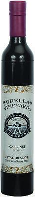 Brella Vineyards Cabernet Wine Bottle Hidden Umbrella Gift Novelty - Black