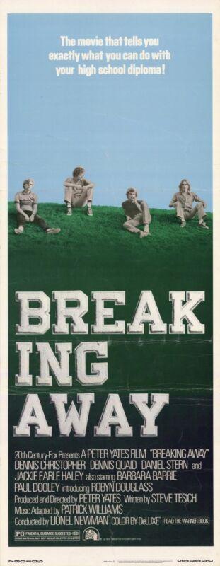 BREAKING AWAY Movie POSTER 14x36 Insert Dennis Christopher Dennis Quaid Daniel