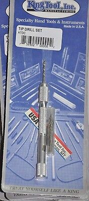 King Tool Standard Drill Tip Set Made In Usa Pocket Clip And 12 Bits