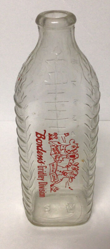 Borden's Baby Bottle Glass 8 oz. Vintage