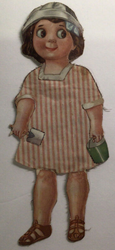 UnusualAntique Googly Eye Cloth and Paper Doll