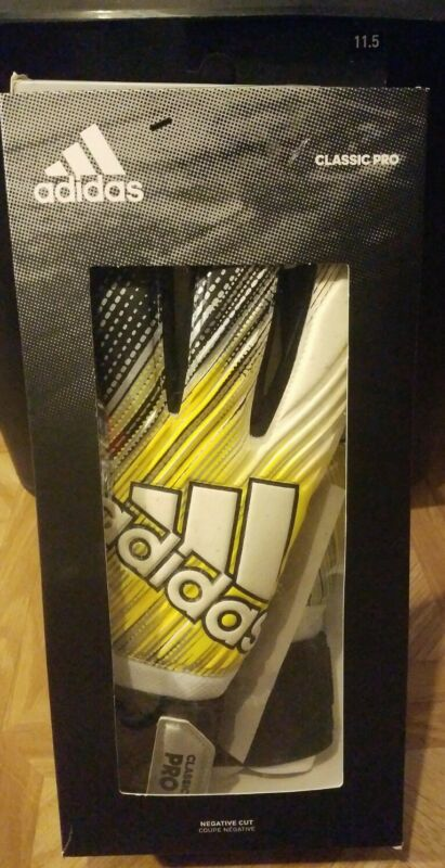 Adidas Classic Pro Goalie Gloves DY2631 SIze 11.5 Negative Cut Yellow/Black New