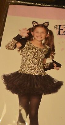 Kids Girls Little Leopard Enchanted Costume Cat Costumes Child Large 10-12 ](Cat Costumes Kid)