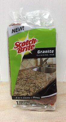 New Scotch Brite Granite Cleaning Pad Scrub Sponge 2 In 1