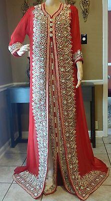 Royal Moroccan Caftan Dubai Kaftan Abaya Wedding Robe Takchita var 4890