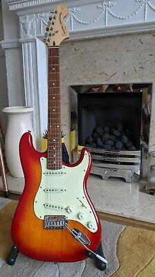 Squier Standard Stratocaster, Cherry Sunburst electric unused guitar