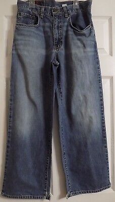 Boy's Abercrombie & Fitch Indigo AB316 Baggy Jeans 5 Pocket Size 14 MADE IN USA for sale  Gainesville