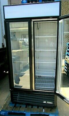 2 Glass Door Display True Freezer Gdm-35f W Sliding Doors Used And Tested