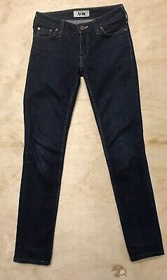 ACNE STUDIOS Women's Size 25 X 28 Kex Soft Raw Low Rise Skinny Jeans Blue