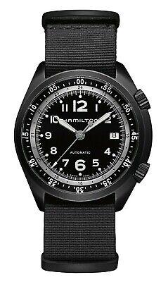 NWT Hamilton Men's Khaki Pilot Pioneer Aluminium Swiss Automatic Watch H80485835