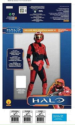 Master Chief RED NO HELMET Costume Adult XL 44