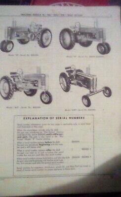 John Deere B Bn Bhn Bw Bhw Tractor Parts Manual Catalog