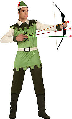 Kostüm Robin Hood Gr. M/L + Bogen + Pfeile Jäger - Alte Robin Kostüm
