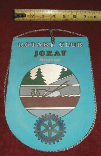VINTAGE Rotary International Club wall banner flag    JORAT   SUISSE
