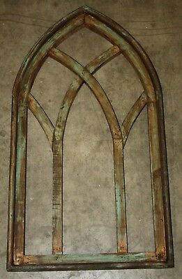 Wooden Antique Style Church WINDOW Frame Primitive Wood Gothic 30 1/2