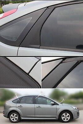 Ford Focus MK 2 & 3  B - C Säulen Carbon Folien Set 6tlg. passend geschnitten