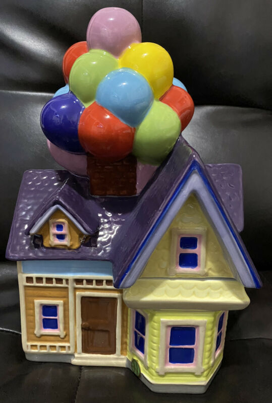 NEW DISNEY Pixar's UP House Balloon Cookie Jar - Ceramic NIB