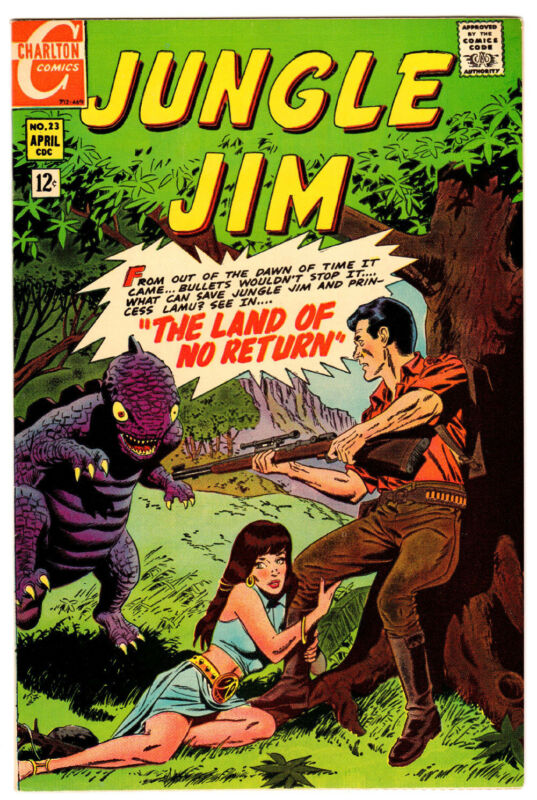JUNGLE JIM #23 9.4 WHITE PAGES SILVER AGE