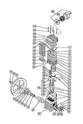 Rolair 30202000ch Crankshaft For K30 Pump Compressor Parts