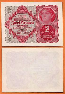 AUSTRIA 1922 UNC 2 Kronen / Korona / Korun / Koron / Corone / Kron / Kruna P- 74