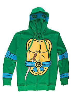 Teenage Mutant Ninja Turtles I Am Leonardo Mens Zip-Up Costume Hoodie