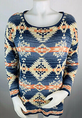 Denim & Supply Ralph Lauren Large Sweater Southwest Aztec Pattern Scoop Neck