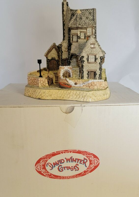 David Winter 1987 Cornish Harbour Cottage Hand Made & Painted Great Britain 🇬🇧