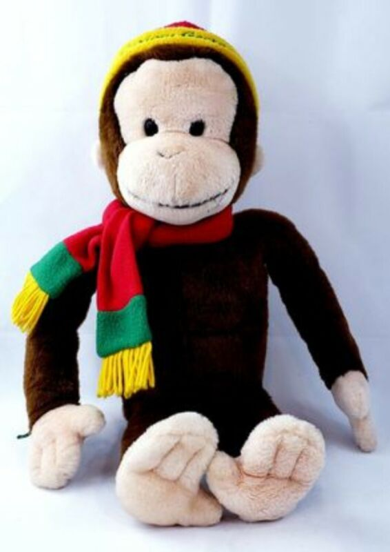 "Curious George Plush Macys Stuffed Toy  24"" Limited edition."