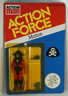 Action Force G I JOE Vintage 1983 Palitoy Enemy MUTON Red Shadow Figure MOC