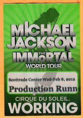 Scarce 2012 Michael Jackson Concert Press Pass 2 8 12 Scottrade Center Stl