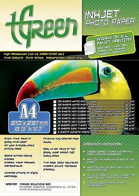 10 sheet A4 TGreen inkjet dark T-shirt transfer photo paper 300g / sqm 210x297
