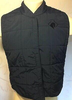 VTG Arista Equestrian Vest Size XL Navy Quilted Nylon Made In (Arista Canada)
