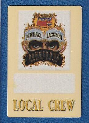 MICHAEL JACKSON DANGEROUS TOUR BACKSTAGE PASS 1992 MINT CONDITION WITH COA