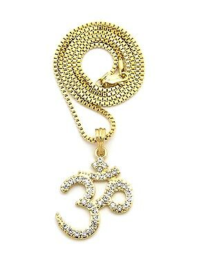 India Yoga Inspired Om  Ohm  Aum Symbol Pendant 24  Various Chain Necklace Xqp99