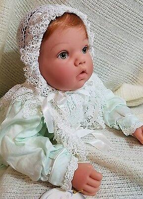 "Lee Middleton Doll, PRECIOUS in GREEN, Baby 20"", So Dainty & Delicate, Box, COA"