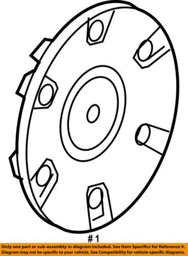 Chrysler Oem 05 08 Pacifica Wheels Center Cap 4862300ab