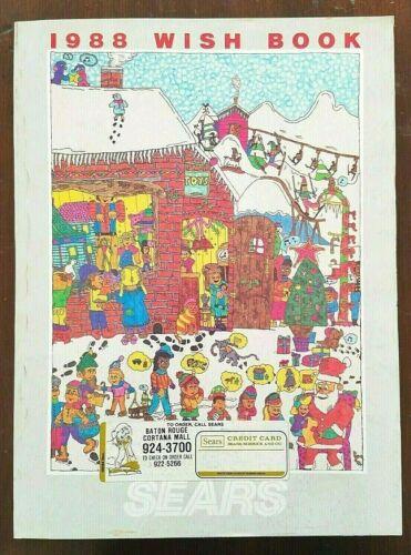 SEARS WISH BOOK ~ 1988 Christmas Catalog ~ Atari Nintendo Barbie Cabbage Patch
