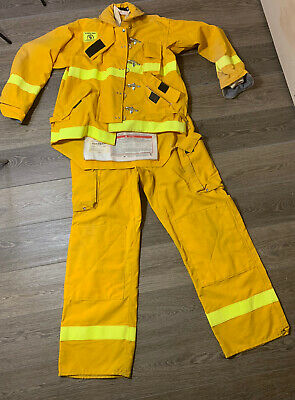 Morning Pride Fire Gear Turnout Jacket Pants Size 46 Pants 38 X 34