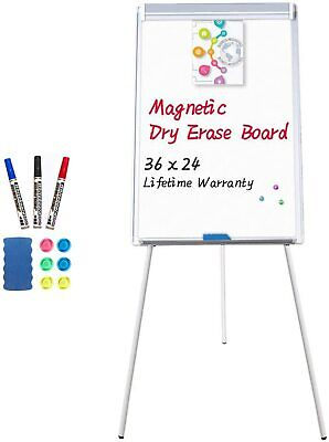 Easel Whiteboard - Magnetic Portable Dry Erase Easel Board 36 X 24 Inches