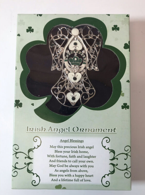 IRISH ANGEL ORNAMENT BLESSINGS Celtic Angel Christmas BANBERRY DESIGNS Filigree