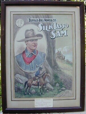 Orig. Front Cover Art Oil Painting Buffalo Bill Robert Prowse 1919 Very -