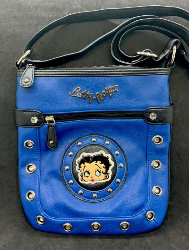 Betty Boop Womens Purse Leather - Blue