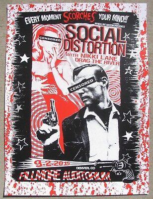 SOCIAL DISTORTION Fillmore - Denver, Colorado 18x24 Concert Print / Gig Poster
