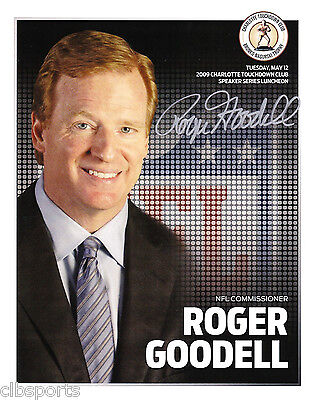 Roger Goodell Signed 8X10 Photograph Nfl Commissioner Auto Photo