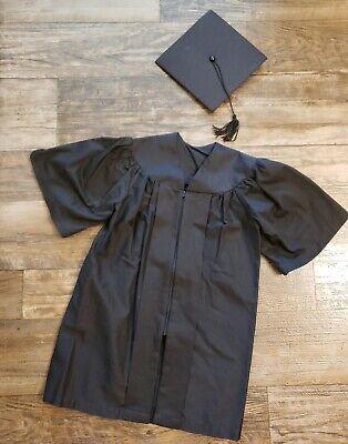 Black Preschool Graduation Gown & Cap EXCELLENT used CONDITIONS